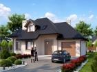 Проект элегантного жилого дома с цоколем и гаражом